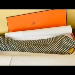HERMES PARIS SILK NECK TIE - 7971 EA - WITH BOX